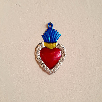 Coeur couronné Ex-voto Méxicain (#108)