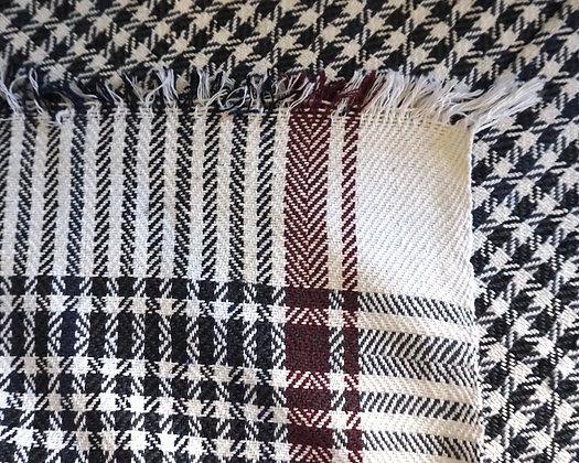 Couverture PONDI en coton Khadi ( noir )