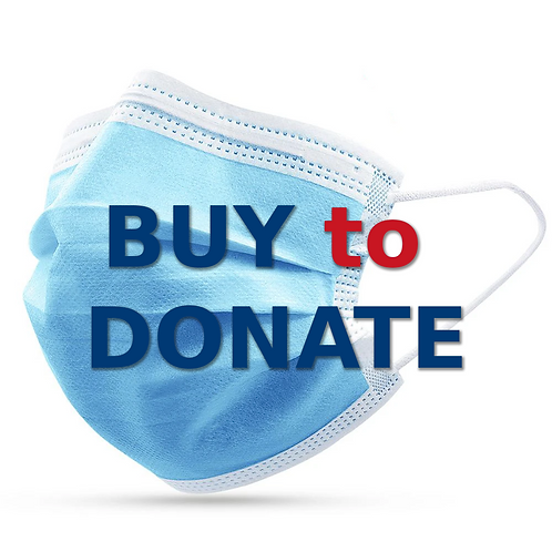 Buy to Donate - Disposable face mask,  50 pcs/box