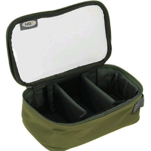NGT Lead bag - 3 compartment clear lid