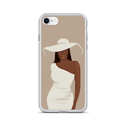 Girl with the hat iPhone Case