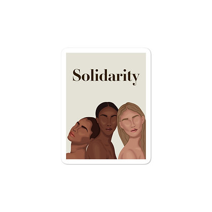 Solidarity Bubble-free stickers