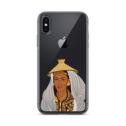Ethiopian Queen Clear iPhone Case