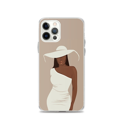 Girl with the hat iPhone 12 Case