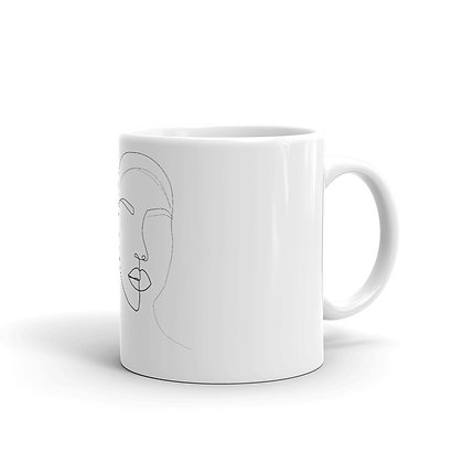 Line art two faces Mug