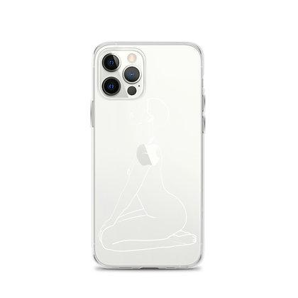 Line art body clear iPhone 12 Case