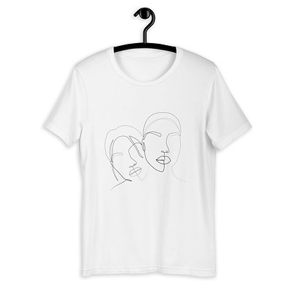 Line art two faces Short-Sleeve Unisex T-Shirt