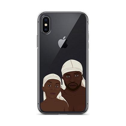 Fatherhood clear iPhone Case
