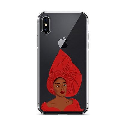 Nigeran queen clear iPhone Case