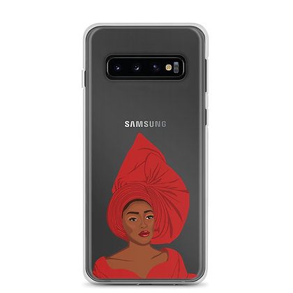 Nigeran queen  clear Samsung Case