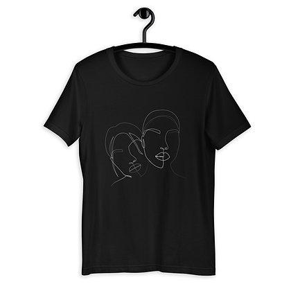 Line art two faces Short-Sleeve Unisex T-Shirt