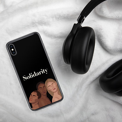 Solidarity iPhone Case black