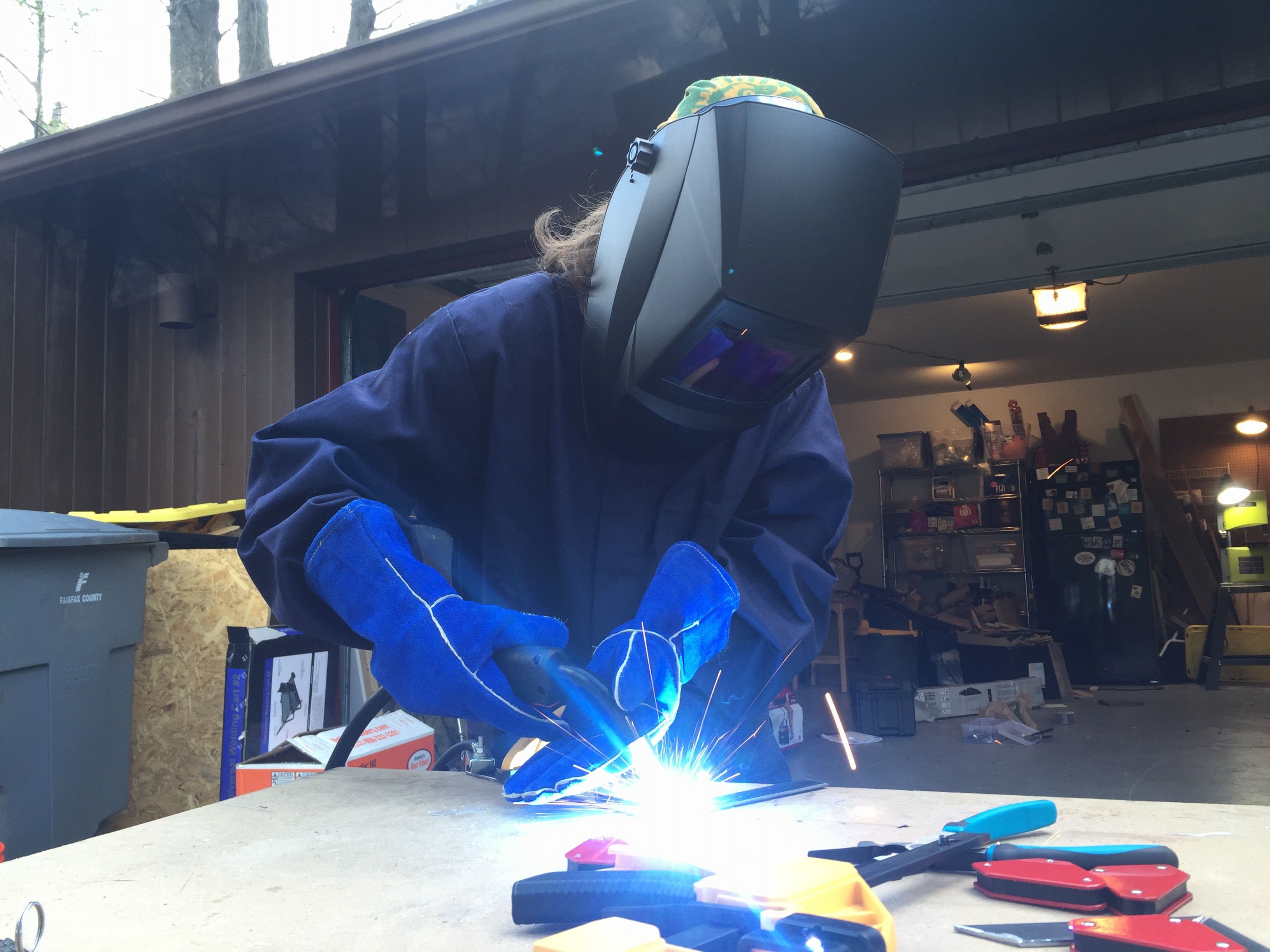 METAL WELDING AND COURAGE