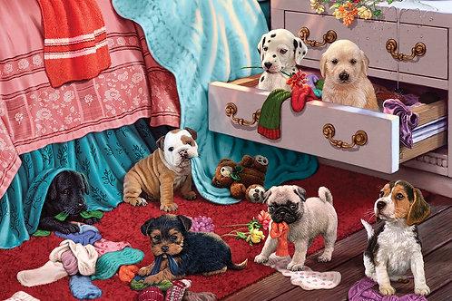 500 Parça Puppies in the Bedroom