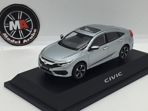 Honda Civic 1/43 metal araba silver
