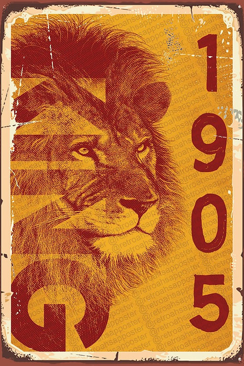 Galatasaray 1905 Retro Ahşap Poster 10x20