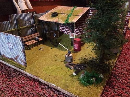 1/24 ve 1/18 ölçek Arabalar için minyatür garaj maketi