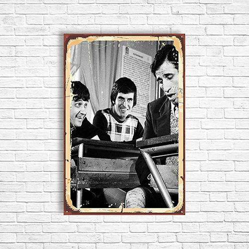 Hababam Sınıfı Yeşilçam Retro Ahşap Poster 10x20