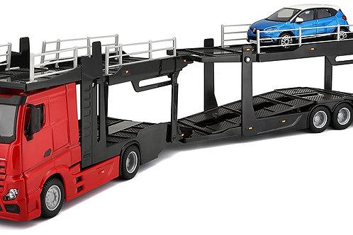 Burago 1:43 Street Fire Mercedez-Benz Tır Multicar Taşıyıcı Araç