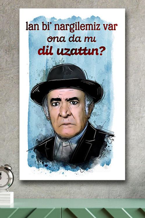 Ali Şen Yeşilçam Retro Ahşap Poster 10x20
