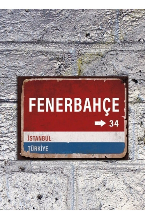 Fenerbahçe Retro Ahşap Poster 10x20