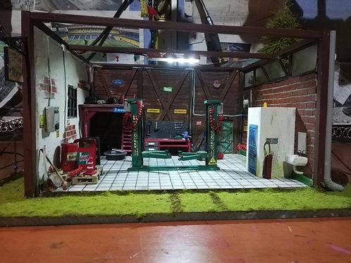 1/32 ölçek Arabalar için minyatür garaj maketi