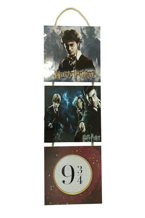 Harry Potter Kabartmalı Baskılı 3'lü Tablo Kopyası