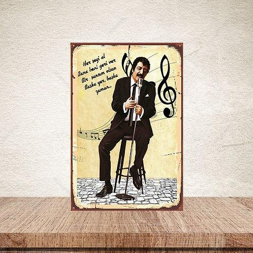 Müslüm Gürses Retro Ahşap Poster 10x20