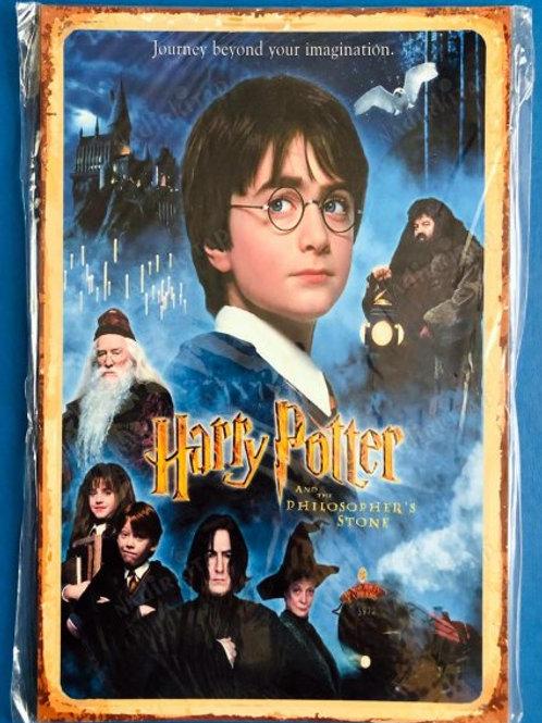 Harry Potter Retro Ahşap Poster 10x20