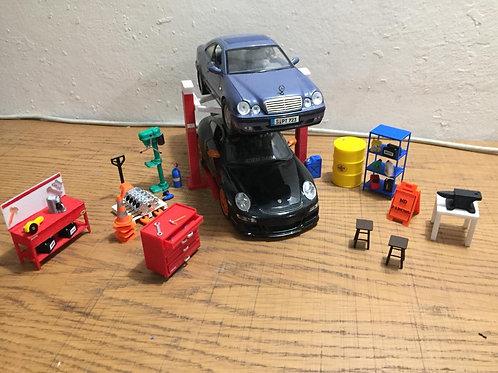 1/18 ölçek Araba Diorama Set