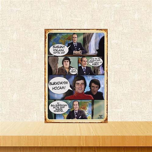 Hababam Sınıfı Replikleri Yeşilçam Retro Ahşap Poster 10x20