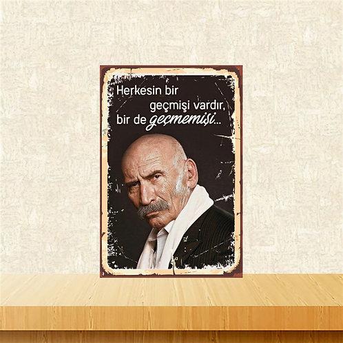 Tuncel Kurtiz Retro Ahşap Poster 10x20