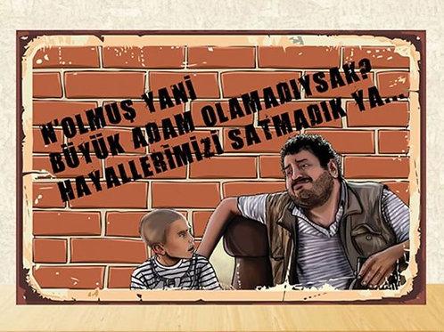 Erdal Tosun Retro Ahşap Poster 10x20 Kopyası