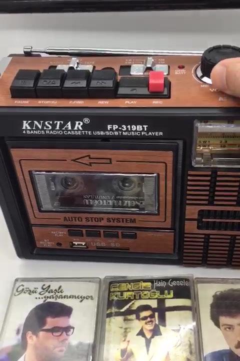 Kemai Bluetootlu Nostalji Radyo Büyük Boy Fm Radyo + Usb + Sd Kart + Radyo Kaset