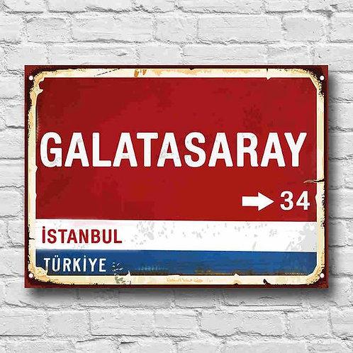 Galatasaray Retro Ahşap Poster 10x20