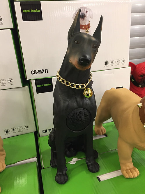Doberman Köpek Bluetooth Hoparlör Ses Bombası