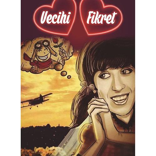 Vecihi Fikret Retro Ahşap Poster 10x20