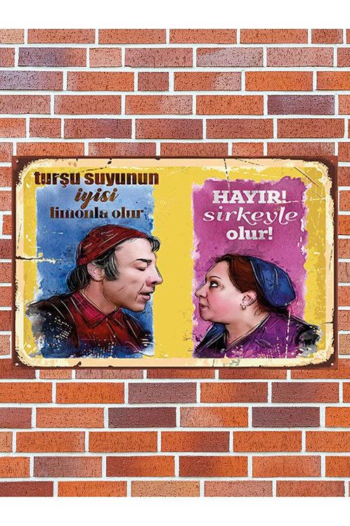 Turşu Suyu Limon&sirke Yeşilçam Retro Ahşap Poster 10x20