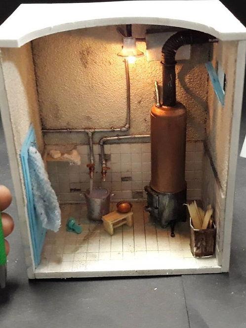 Nostaji Bakır Kazanlı Banyo