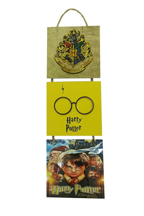Harry Potter Kabartmalı Baskılı 3'lü Tablo