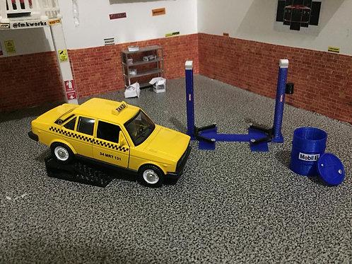 1/32 ölçek Arabalar için 3 lü set (rampa-lift-varil)