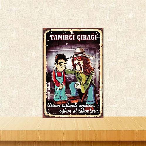 Cem Karaca Tamirci Çırağı Retro Ahşap Poster 10x20 Kopyası