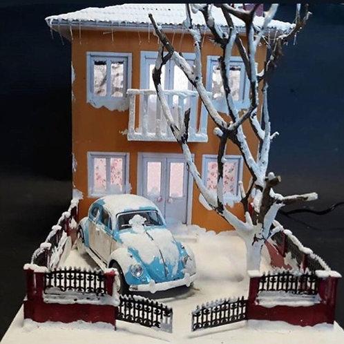 2 Katlı Kış Evi Maketi