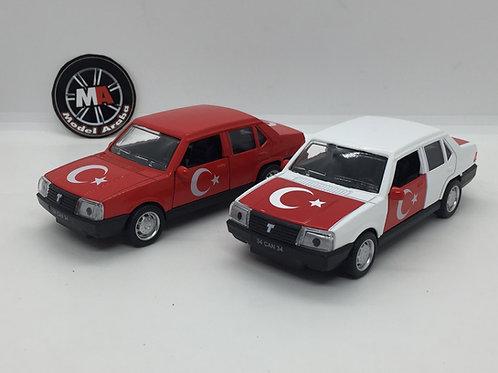 1/32 ölçek Tofaş Şahin metal araba Türk bayraklı