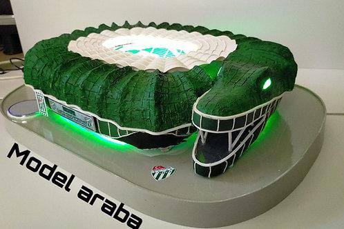 Bursaspor Timsah Arena maket Stadı Bluetoothsuz Marşsız