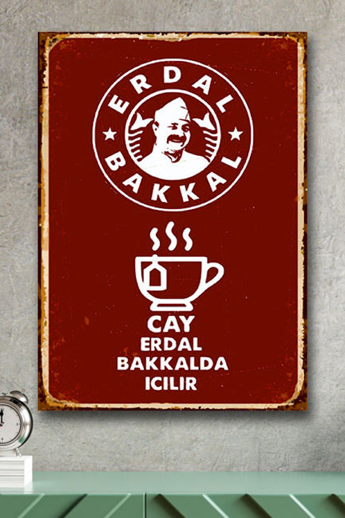 Erdal Bakkal Retro Ahşap Poster 10x20 Kopyası