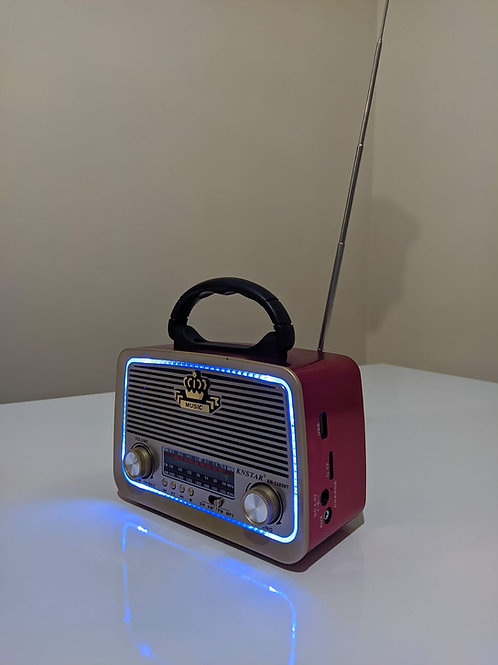 Knstar 1182 Bt Bluetooth Dekoratif ve Nostaljik Radyo(FM/USB/TFCARD/AUX)