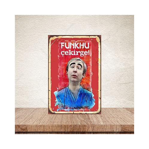 Funkhu Çekirge Şener Şen Yeşilçam Retro Ahşap Poster 10x20