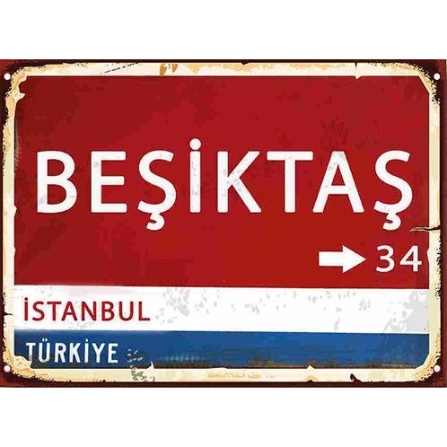 Beşiktaş Retro Ahşap Poster 10x20