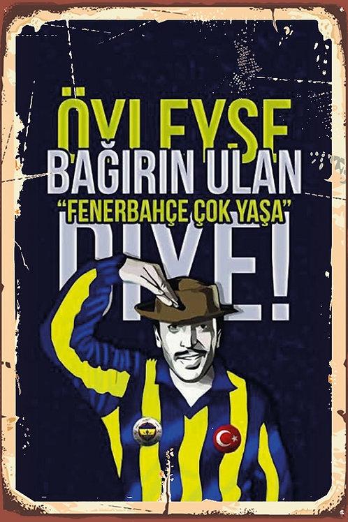 Fenerbahçe Çok Yaşa Sadri Alışık Retro Ahşap Poster